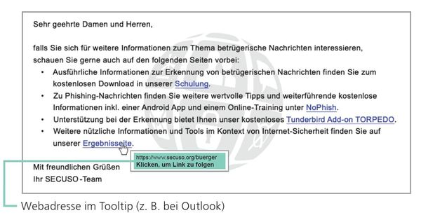 Tooltipp Outlook