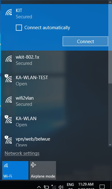 Figure 1: Wifi List