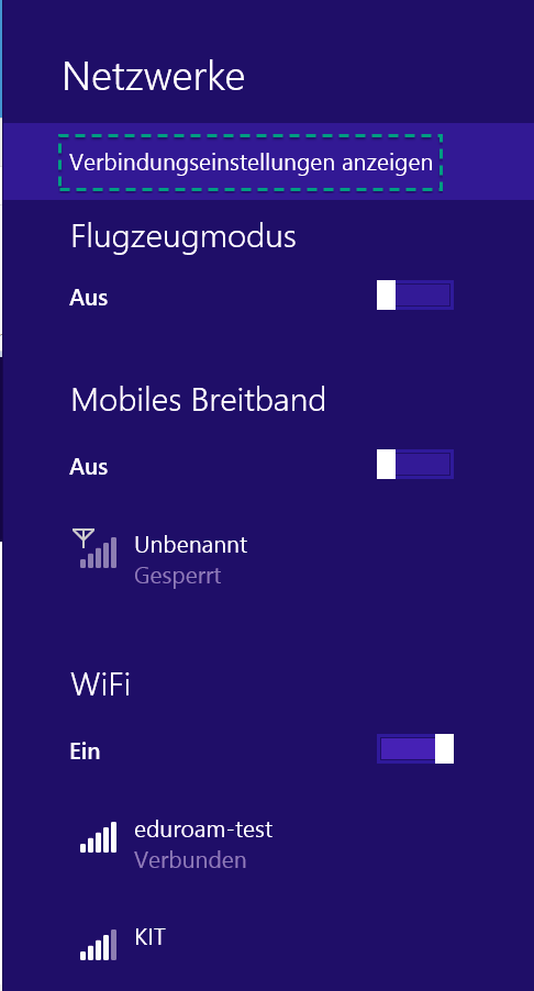 Figure 11: Wifi Networks on Windows 8